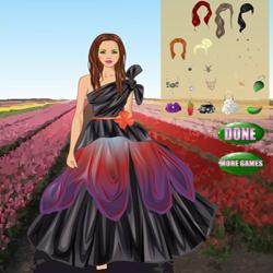 flower power couture dress up
