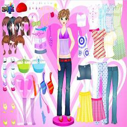 hearts dots dressup