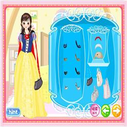 snow white dressup game